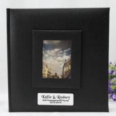 Personalised Engagement Photo Album 200 Black