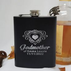 Godmother Black Flask - Personalised Gift