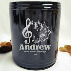 Personalised  Black Can Cooler - Male Gift