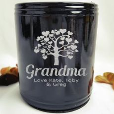 Grandma Engraved Black Can Cooler Personalised Message