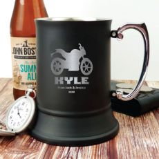 Personalised Engraved Stainless Steel Black Beer Stein (M)