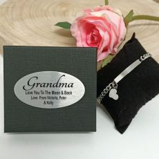 Grandma ID Heart Bracelet In Personalised Box