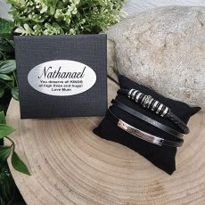 Multilayer Leather Bracelet Personalied Gift Box