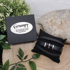 Stacked Leather Bracelet GrandPa Gift Box