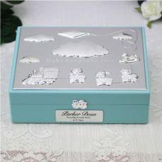 Personalised Baby  Keepsake Box Gift - Blue