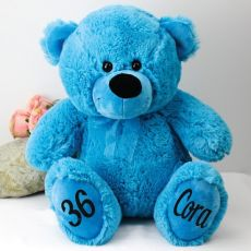 Personalised Birthday Teddy Bear 40cm Plush Blue