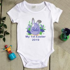 Personalised 1st Easter Bodysuit - Blue Egg