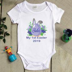 Personalised 1st Easter Bodysuit - Blue Egg