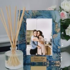 80th Birthday Frame 5x7 Photo Glass Fortune Of Blue