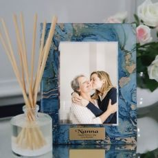 Nan Personalised Frame 5x7 Photo Glass Fortune Of Blue