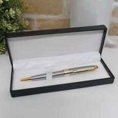 Satin & Gold Twist Pen Boxed