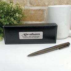 16th Birthday Gunmetal Twist Pen in Personalised Box