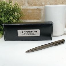 Bestman Gunmetal Twist Pen in Personalised Box