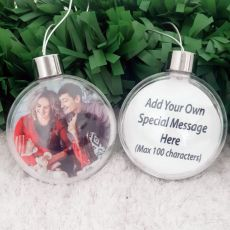 Personalised Christmas Photo Bauble Ornament