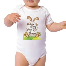 Some Bunny Easter Baby Bodysuit - Grandpa