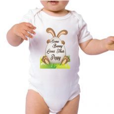 Some Bunny Easter Baby Bodysuit - Pop