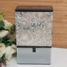Golden Glitz Glass Trinket Box