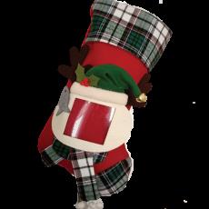 Cat Photo Christmas Stocking - Red