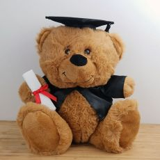 Brown Graduation Teddy Bear with Mortarboard