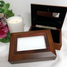 Wooden Photo Keepsake Trinket Jewellery Box