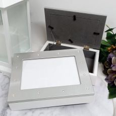 Diamante Photo Keepsake Trinket Jewellery Box