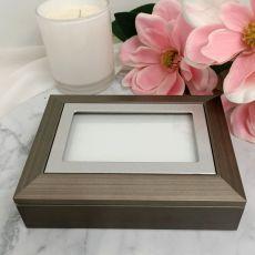 Photo Keepsake Trinket Jewellery Box - Charcoal Grey