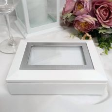 White Photo Keepsake Trinket Jewellery Box