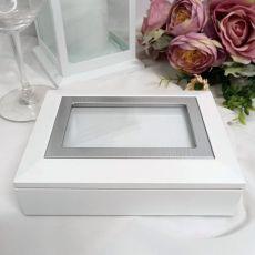 White Photo Keepsake Trinket Jewellery Box