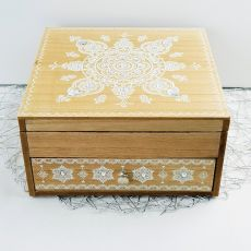 Wooden Jewellery Box Mandala Design