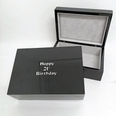 21st Birthday Black Trinket Jewel Box