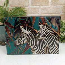 Large Glass Trinket Box - Zebra