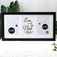 Love Is All You Need Black Gallery Frame
