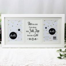 Bless This Child White Gallery Frame