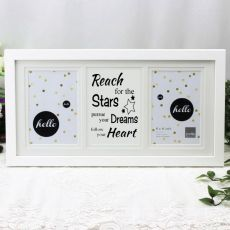 Graduation White Gallery Frame - Stars