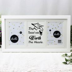 Graduation White Gallery Frame - Tassle