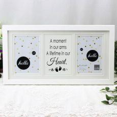 Baby Memorial White Gallery Frame - Heart