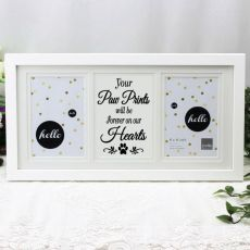 Pet Memorial White Gallery Frame - Paw Prints