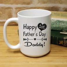 1st Fathers Day 15oz Coffee Mug - Heart
