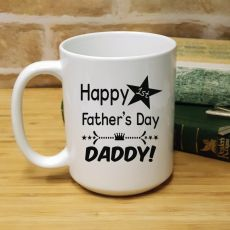 1st Fathers Day 15oz Coffee Mug - Star