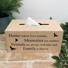 Woodcraft Tissue Box Cover - Home