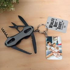 Personalised Dad Multi Tool with Photo tag
