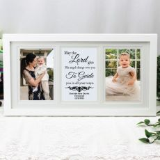Christening Gallery Photo Frame 4x6 Typography Print White