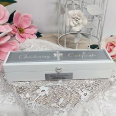 Personalised Christening Certificate Holder