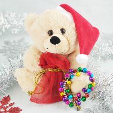 Christmas Bear with Jingle Bell Bracelet