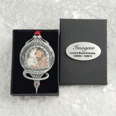 Christmas in Heaven Pewter Christmas Ornament