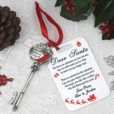 Magic Santa Key with Personalised Christmas Tag