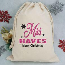 Personalised Christmas Santa Sack 40cm - Mrs