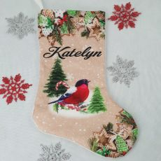 Personalised Colorful Christmas Stocking - Cardinal