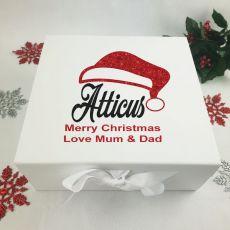 Personalised Christmas Eve Box - Santa Hat