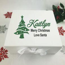 Personalised White Christmas Eve Box - Tree